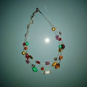 Lia Sophia multi-layer colorful bead necklace gift